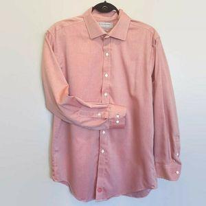 🍁 ANDREW MARC Non Iron Herringbone Dress Shirt
